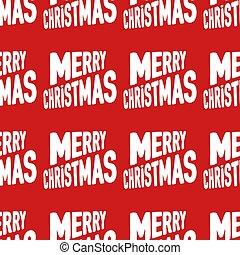 patrón, seamless, navidad, rojo, alegre, hecho, letras, ...