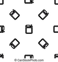 patrón, seamless, plástico, negro, lata, jerry