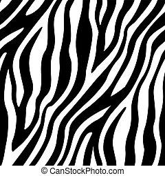 patrón, seamless, rayas, zebra