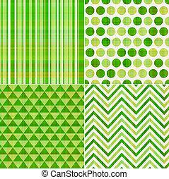 patrón, seamless, textura, verde