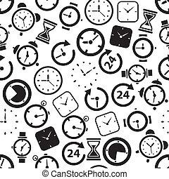patrón, seamless, tiempo