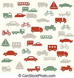 patrón, seamless, transporte