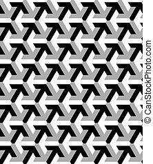 patrón, seamless, vector, hecho, flecha