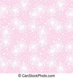 patrón, seamless, vector, peludo, pequeño, flores