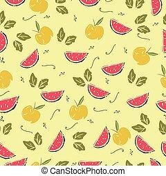 patrón, seamless, watermelon.