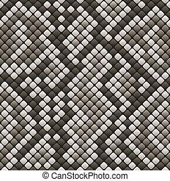 patrón, snakeskin, -, seamless, ilustración, vector