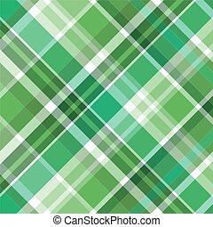 patrón, tartán, verde