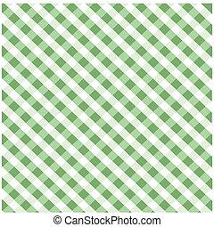 patrón, tartán, verde, seamless
