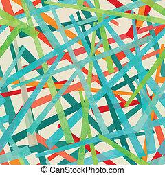 patrón, tiras, coloreado, seamless