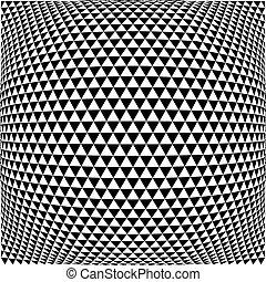 patrón, triángulo, efecto, fisheye, plano de fondo