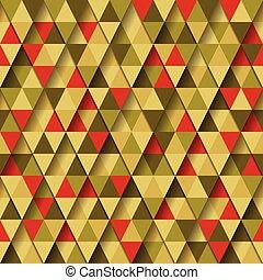 patrón, triángulo