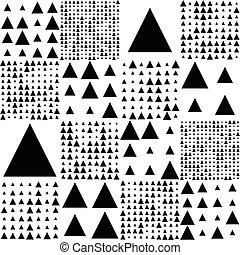 patrón, triángulo, seamless