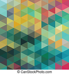 patrón, triángulos