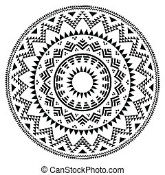patrón, tribal, gente, azteca, geométrico