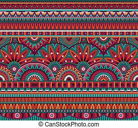 patrón, tribal, seamless, plano de fondo, étnico