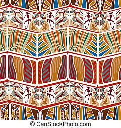 patrón, tribal, seamless, resumen, vector, il, africano, style.