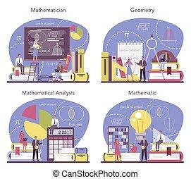 patrón, uso, set., matemático, busque, científico