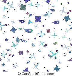 patrón, vector, seamless, plancton