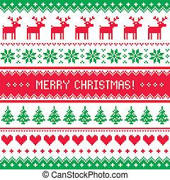 patrón, venado, navidad, alegre