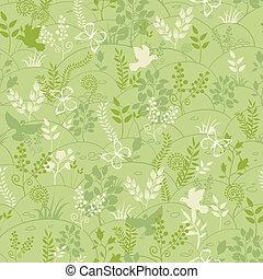 patrón, verde, seamless, plano de fondo, naturaleza
