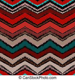 patrón, zigzag, mano, oscuridad, colors., dibujado
