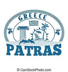 Patras, Greece stamp or label