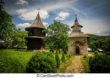 Patrauti Monastery - one of the many painted monasteries in...