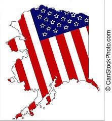 patriótico, 3, alasca