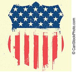 patriótico, agasalho, braços