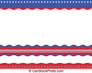 patriótico, americano, experiência.