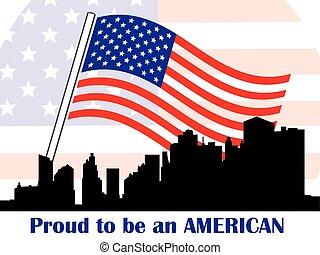 patriótico, americano, símbolos