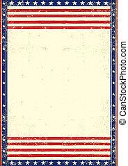 patriótico, americano, sujo