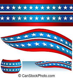 patriótico, bandeira, bandeiras, eua