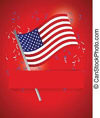 patriótico, bandeira, nós, fundo