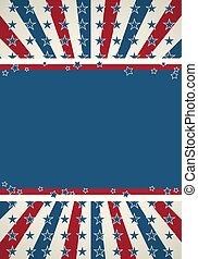 patriótico, bandera estadounidense, plano de fondo