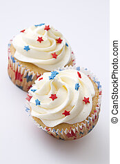 patriótico, cupcake