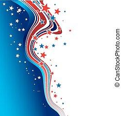 patriótico, día, plano de fondo, independencia