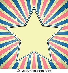 patriótico, estrela, fundo
