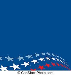 patriótico, estrellas, plano de fondo