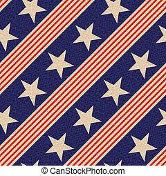 patriótico, estrellas, seamless, plano de fondo