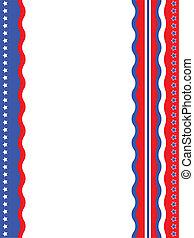 patriótico, fondo., norteamericano