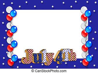 patriótico, frontera, rayas, estrellas