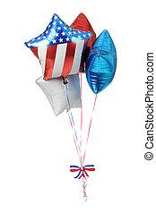 patriótico, globos, -, estados unidos de américa