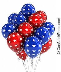 patriótico, globos