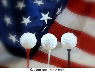 patriótico, golf