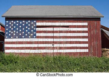 patriótico, granero