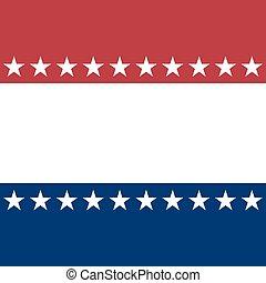 patriótico, marco, estados unidos de américa