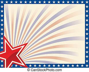 patriótico, marco, estrellas