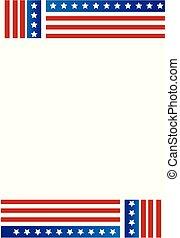 patriótico, marco, frontera