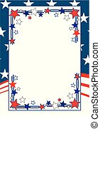 patriótico, marco, vector
